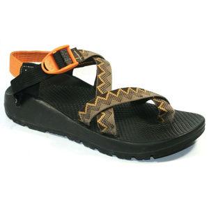 Chaco Womens Vibram Sole Brown Orange Sandals 7